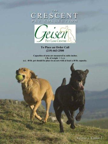 Pet Urn Catalog (PDF) - Geisen Funeral Home