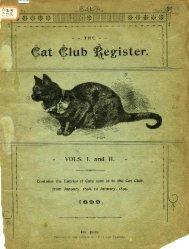 Volume 1 and 2 - Cat Pedigrees.com