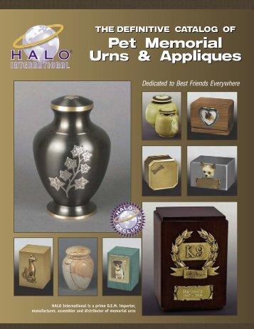 Pet Memorial Urns & Appliques Pet Memorial Urns & Appliques