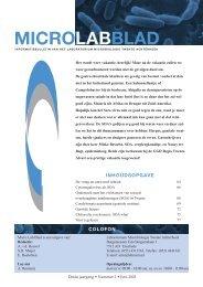 microlabbblad - Laboratorium Microbiologie