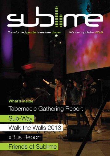 Tabernacle Gathering Report Walk the Walls 2013 ... - Sublime UK