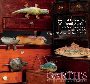 Friday, August 31, 2012 beginning at 2:00 - Garth's Auctions, Inc.