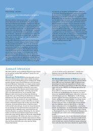 Editorial Austausch international - Kantonsschule im Lee Winterthur