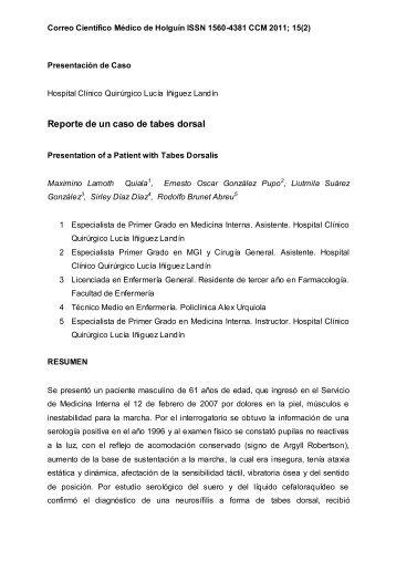 HOSPITAL DOCENTE UNIVERSITARIO - Correo Científico Médico