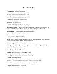 19th Century Medical Terminology