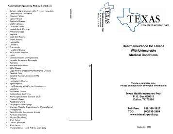 brochure FINAL rev.9-1-09 - Texas Department of Insurance