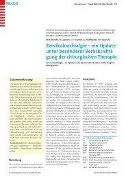 Zervikobrachialgie - Berner Institut für Hausarztmedizin BIHAM ...
