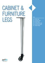 PAGE 218 Table Legs 221 Furniture Legs 226 Table Bases ... - Artia