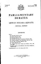 PARLIAMENTARY DEBATES - Parlimen Malaysia