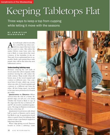 Keeping Tabletops Flat - Fine Woodworking