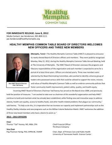 June 8, 2012 HEALTHY MEMPHIS COMMON TABLE BOARD OF ...