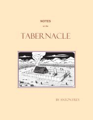 Notes on the Tabernacle - The Herald