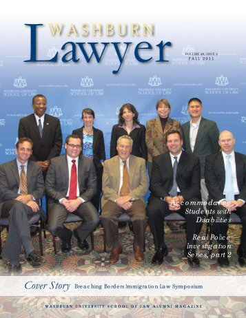 Front Cover & Table of Contents - Washburn University School of Law