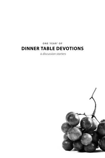 One Year of Dinner Table Devotions and ... - Nancy Guthrie
