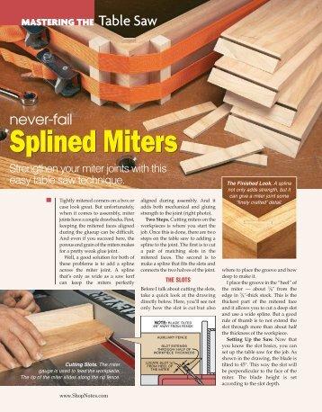 Splined Miters Splined Miters - gerald@eberhardt.bz