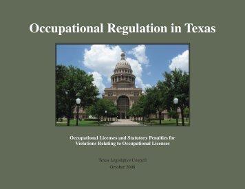 08R 2683 OR Table Book 1.indb - Texas Legislative Council