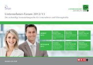 Unternehmer-Forum 2012/13 - Speakers Excellence