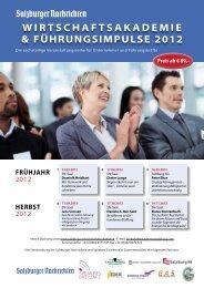 wirtschaftsakademie & führungsimpulse 2012 - Speakers Excellence
