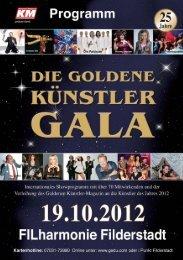 Die Goldene Künstler-Gala 2012 - Programm