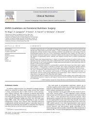 ESPEN Guidelines on Parenteral Nutrition: Surgery