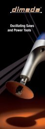 Oscillating Saws and Power Tools - Dimeda Instrumente GmbH