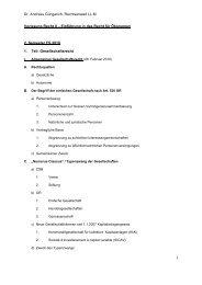 Dr. Andreas Güngerich, Rechtsanwalt LL.M. 1 Vorlesung Recht II ...