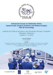 Advanced course on Surgical Anatomy for Laparoscopic and ...