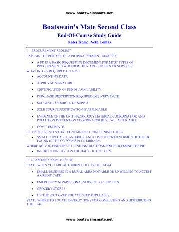 boatswain magazines rh yumpu com Boatswain's Mate Resume boatswain's mate study guide