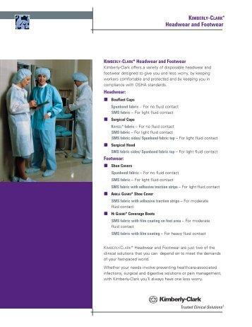 Headwear and Footwear. - Kimberly-Clark Health Care