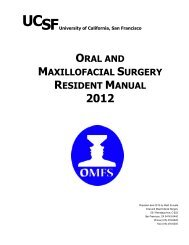 oral and maxillofacial surgery resident manual - Department of Oral ...