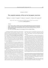 The surgical anatomy of the nervus laryngeus recurrens