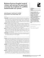 Relation between hospital surgical volume and outcome for ...