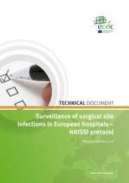 Surveillance of surgical site infections in European hospitals ...