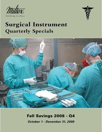 Surgical Instrument Quarterly Specials - Delasco