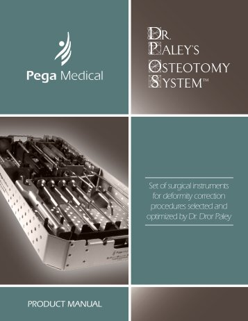 Set of surgical instruments for deformity ... - Pega Medical inc.