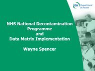 NHS National Decontamination Programme and Surgical Instrument ...