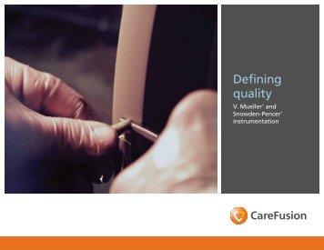 Defining quality - CareFusion