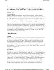 1 SURGICAL ANATOMY OF THE HEAD AND NECK