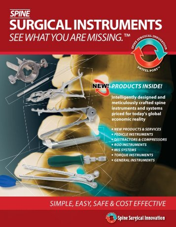 SURGICAL INSTRUMENTS - Spine Surgical Innovations