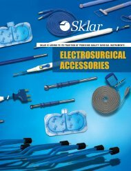 ElEctroSUrGIcAl AccESSorIES - Sklar Surgical Instruments