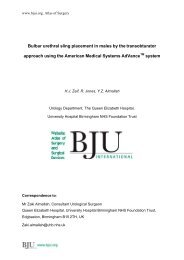 Bulbar urethral sling placement in males by the transobturator ... - BJUI