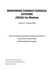 MONITORING CATARACT SURGICAL OUTCOME (MCSO) for ...