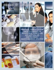 Driving Operational Improvement in Hospitals:White ... - CareFusion