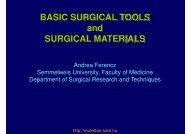 Basic surgical tools and suture materials