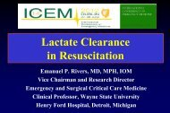 Severe Sepsis and Septic Shock: A Decade of Evidence for ... - MCI