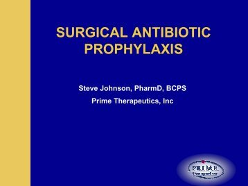 SURGICAL ANTIBIOTIC PROPHYLAXIS