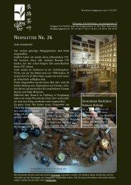 Newsletter Nr. 26 vom 15. Oktober 2011 - Länggass-Tee