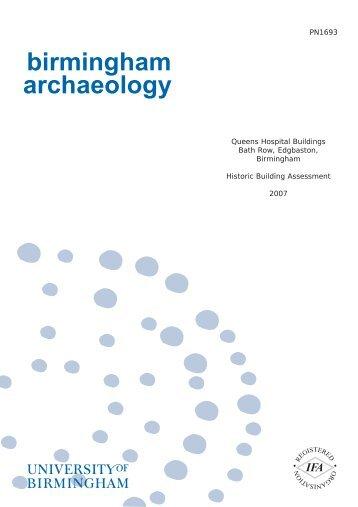 birmingham archaeology - Archaeology Data Service