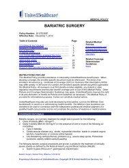 BARIATRIC SURGERY - UnitedHealthcareOnline.com