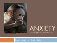 Anxiety - Queen's University